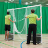 Harrod Sport Steel Indoor Folding Wheelaway Hockey Goal Posts