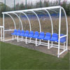 Harrod Sport Premier Curved Socketed Team Shelter