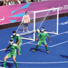 Harrod UK 3G Integral Weighted Football Portagoals 10ft x 7ft