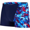 Speedo Allover V Aquashort Navy/Bondi/Lava Red