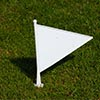 Elders Cricket White Boundary Marker Flags 10 Pack