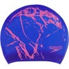 Speedo Long Hair Printed Senior Silicone Swimming Cap Violet/Ecstatic