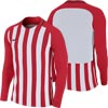 Nike Striped Division III Long Sleeve Junior Football Shirt University Red/White