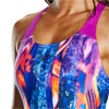 Speedo Lavaflow Digital Powerback Swimsuit Diva/Navy/Orange