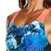 Speedo Stormflow Digital Powerback Swimsuit Black/Turquoise/Red