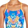 Speedo Girls Dreamscape Fusion Crossback Swimsuit Navy/Fluo Orange/Turquoise