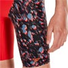 Speedo Boys Paintblast Allover V Cut Jammer Risk Red/Black/Siren