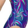 Speedo Colour Melt Splashback Swimsuit Ultrasonic/Turquoise/Green