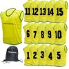 Numbered Training Bibs 1-15 Pack Yellow