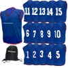 Numbered Training Bibs 1-15 Pack Navy