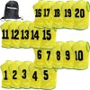 Numbered Training Bibs 1-20 Pack Yellow