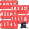 Numbered Training Bibs 1-25 Pack Red