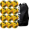 Mitre Delta Pro Match Football Yellow 12 Pack