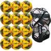 Mitre Delta Pro Match Football Yellow 12 Pack