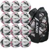 Mitre Ultimatch Plus Match Football White 12 Pack