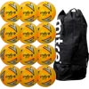 Mitre Impel Plus Training Football Yellow 12 Pack