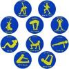 Apollo Fitness Exercise Spot Markers