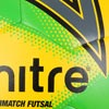 Mitre Ultimatch Futsal Football Yellow/Green/Blue 12 Pack