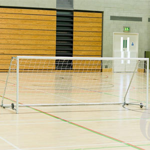 Harrod Sport Folding Wheelaway Steel Football Posts 5 v 5