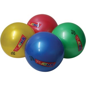 PLAYM8 Junior 3 Plastic Playball 4 Pack 15cm