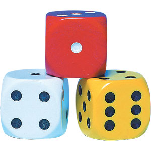 Coloured Spot Dice