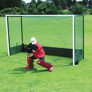 Harrod UK Steel Folding Wheelaway Hockey Goal Posts