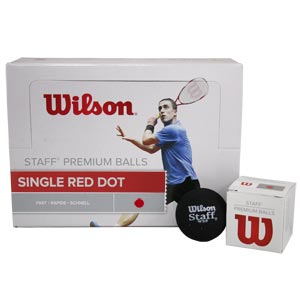 Wilson Staff Squash Balls Red Dot Pack of 12