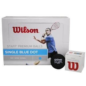 Wilson Staff Squash Balls Blue Dot Pack of 12