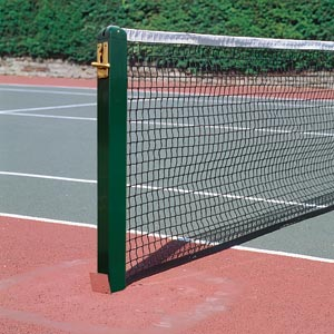 Harrod Sport 80mm Socketed Square Aluminium Tennis Posts