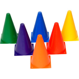 PLAYM8 Mini Cones 6 Pack 23cm