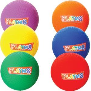 PLAYM8 Playground Ball 6 Pack 20cm