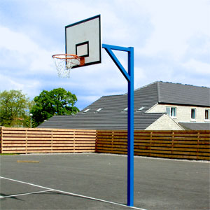 Harrod UK Socketed Basketball Goals with Wooden Practice Backboard Set