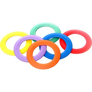 PLAYM8 Juggling Ring 6 Pack 24cm