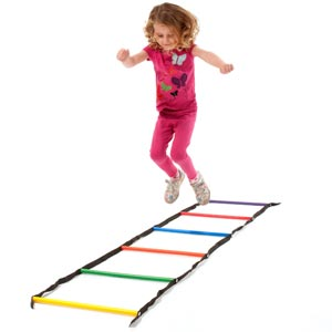 PLAYM8 Rainbow Round Rung Ladder 1.5m