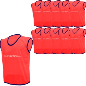 Newitts Plain Training Bibs 10 Pack Red