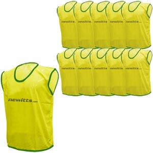 Plain Training Bibs 10 Pack Yellow