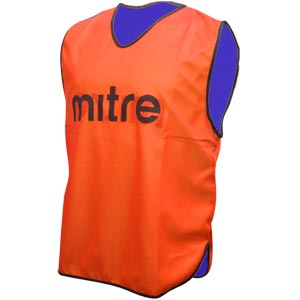 Mitre Pro Reversible Bib Orange/Blue