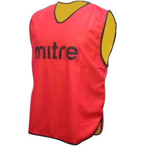 Mitre Pro Reversible Bib Red/Yellow