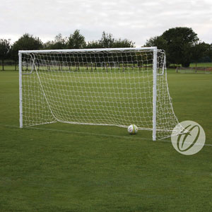 Harrod UK Socketed Heavyweight Steel Football Posts 12ft x 6ft