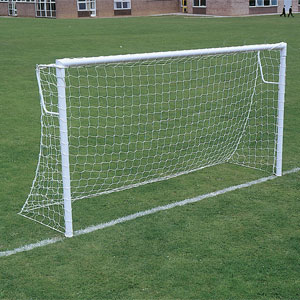 Harrod Sport Lock Socketed Super Heavyweight Steel Football Posts 16ft x 7ft