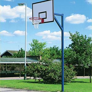 Harrod UK Socketed Basketball Goals with Steel Practice Backboard Set