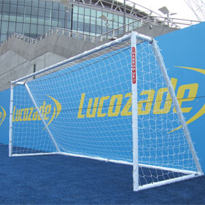 Harrod Sport Heavy Duty Galvanised Football Posts 16ft x 6ft