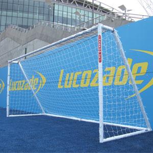 Harrod UK Heavy Duty Galvanised Football Posts 16ft x 6ft