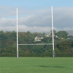 Harrod UK Hinged No1 Steel Rugby Posts