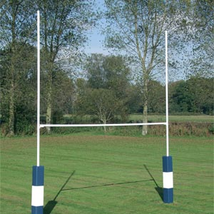 Harrod Sport Socketed Heavy Duty Steel Rugby Posts
