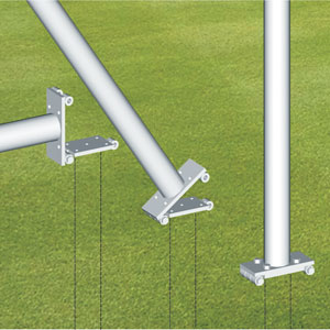 Harrod UK Rugby Post Hinge Adaptors