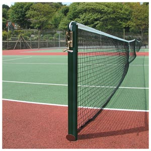 Harrod Sport 76mm Socketed Round Steel Tennis Posts
