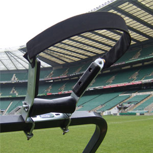 Harrod Sport Hinged Rugby Post Assembly Roller