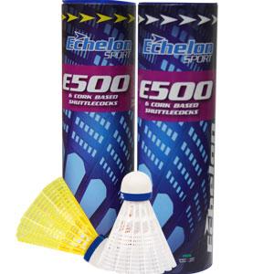 Echelon E500 Badminton Shuttlecocks 6 Pack