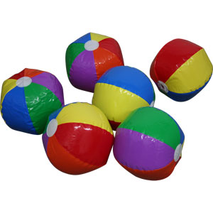 PLAYM8 Mini Beachball 6 Pack 20cm